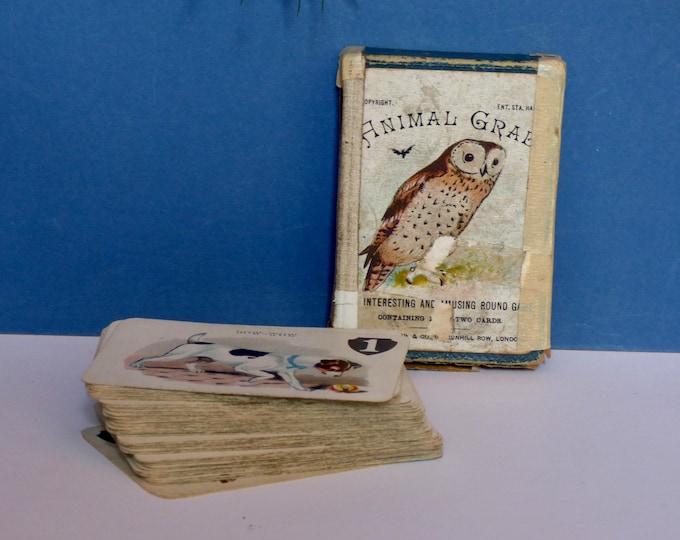 Animal Grab vintage card game