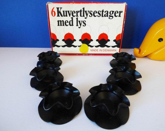 Candle holders Metal danish Kuvertlysestager Med Lys