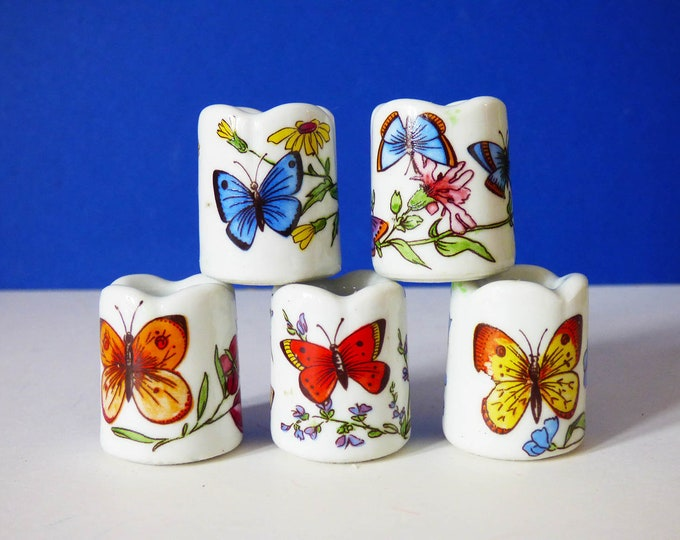 5 x Funny designs mini candle stick holders made in  Germany