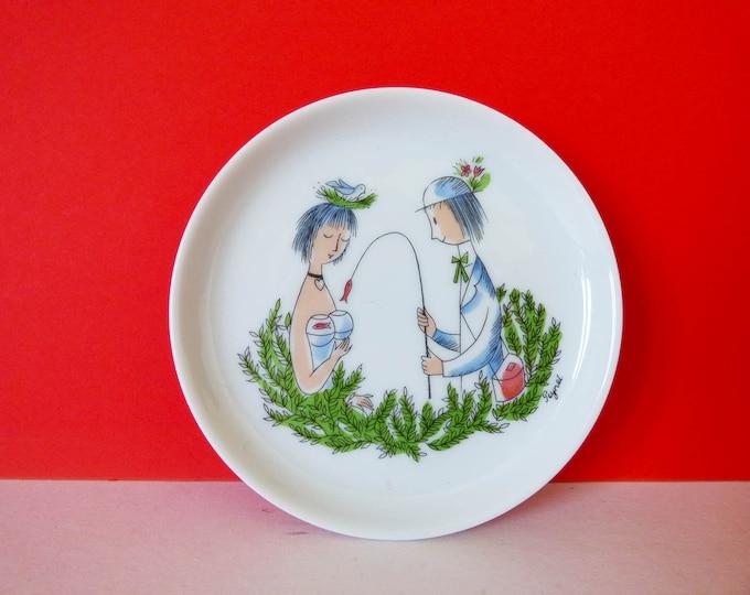 Raymond Peynet Mermaid Mini plate  Rosenthal Studio-line Germany