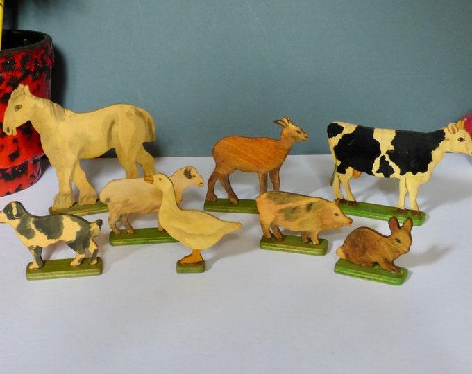 Wooden Farm animals  1960's