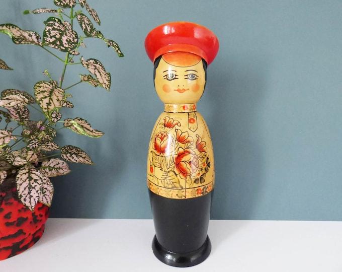 Russian Doll bottle holder Vintage Matryoshka