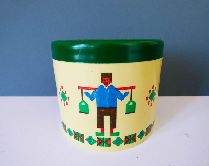 Vintage Cute 1970's plastic pot
