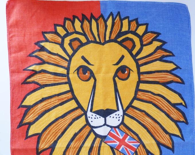 Vintage British Lion tea towel by Ulster of Ireland