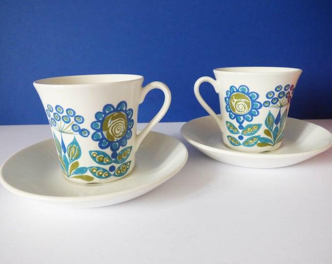 Tea cups Turi Designs Tor Viking Figgjo Flint Norway
