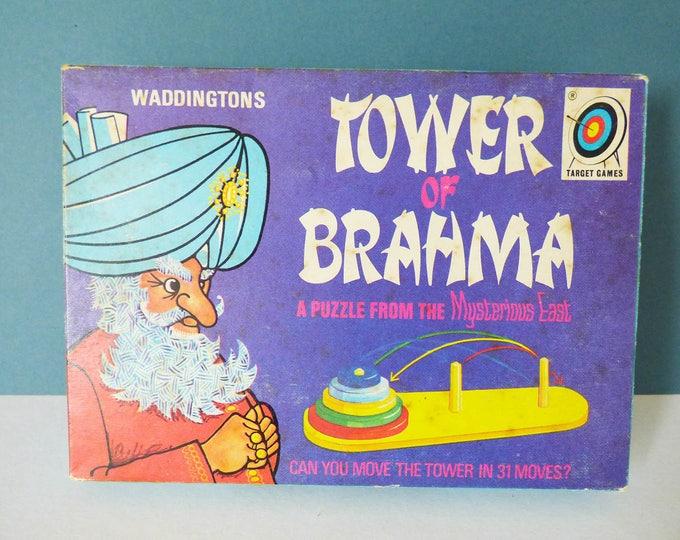 Tower of Brahma Waddingtons Puzzle Vintage
