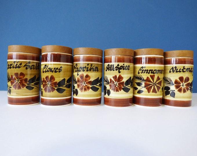 Raymond potteries herb and spice jars vintage