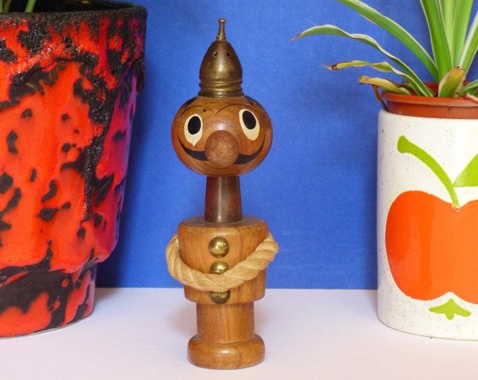 Gonk wooden salt and pepper pots 1960s MCM