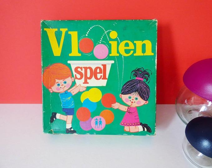 Tiddlywinks dutch game Vlooien Spel Vintage