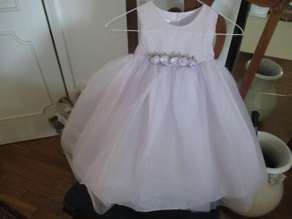 childs lavender tulle dress size 4 - image 2