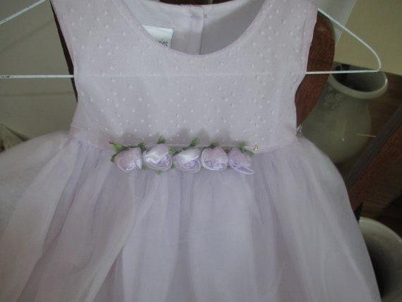 childs lavender tulle dress size 4