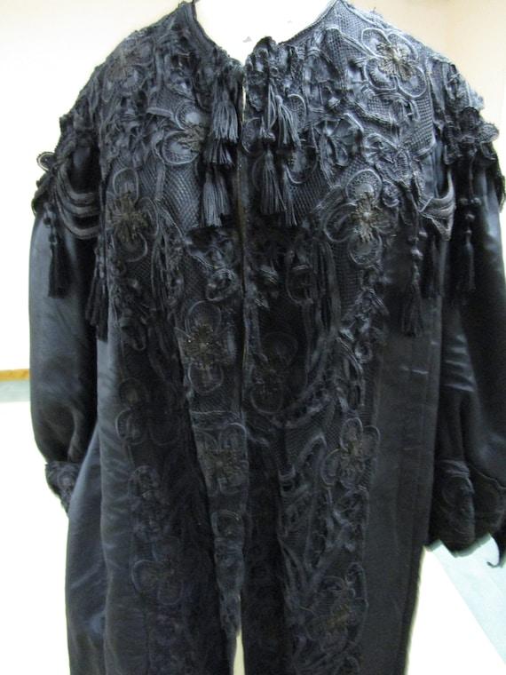 antique black 1910-1920 opera coat