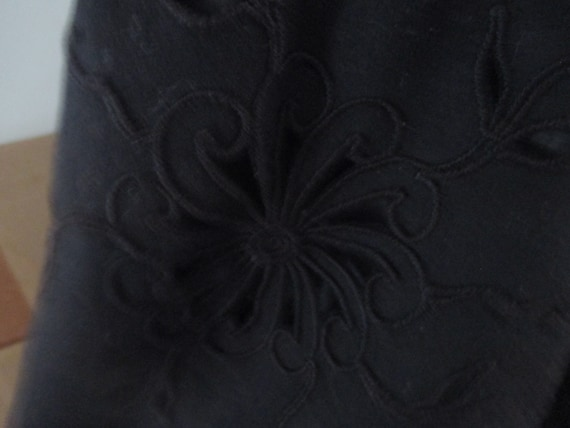 Antique Victorian black wool Cape - image 6