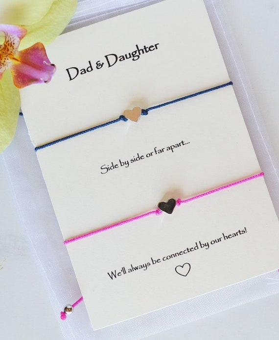 Father Daughter Bracelets Dad Birthday Gift