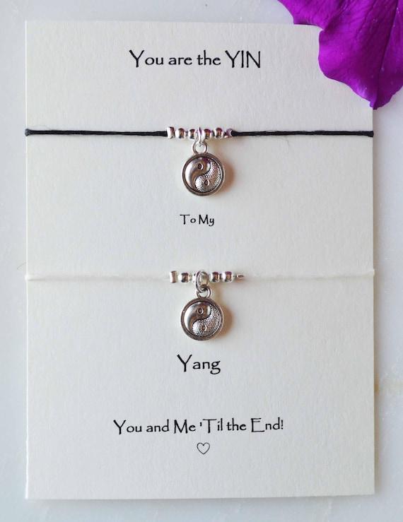 5d6a333f3ad Yin Yang jewelry Yin Yang couple bracelets Yin Yang
