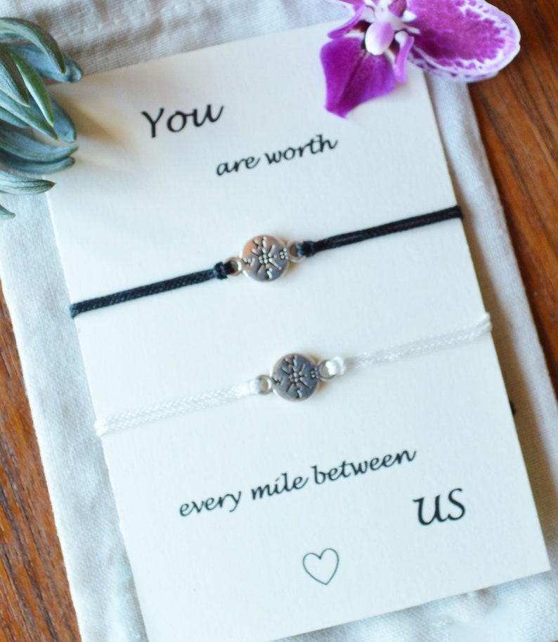 moving away gift, distance relationship bracelets, deployment gift, going  away gift, couples bracelets, anniversary gift, work travel gift