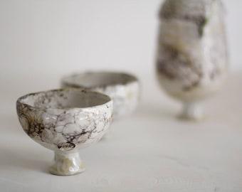 Marbled tea bowl, wine goblet