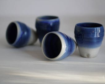 Shibori - stoneware tumbler