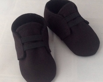 Black Baby Shoes with Elastic  17107b3a081