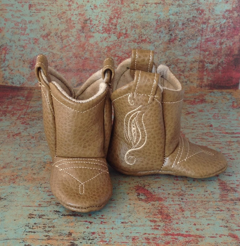 952e6fc6eaec9 Baby Leather Cowboy Boots with Fancy Stitching | 3-6 Month | READY TO SHIP