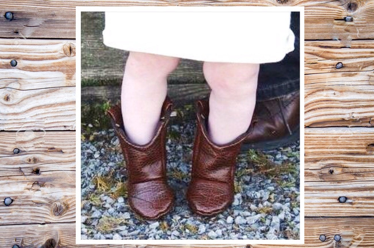 2a9019d58cfd4 Brown Leather Baby Cowboy Boots Preemie up to 24 Month in