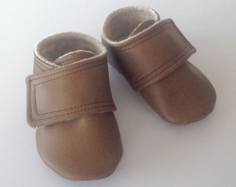 Brown Leather Baby Shoes | Newborn size up to 4T
