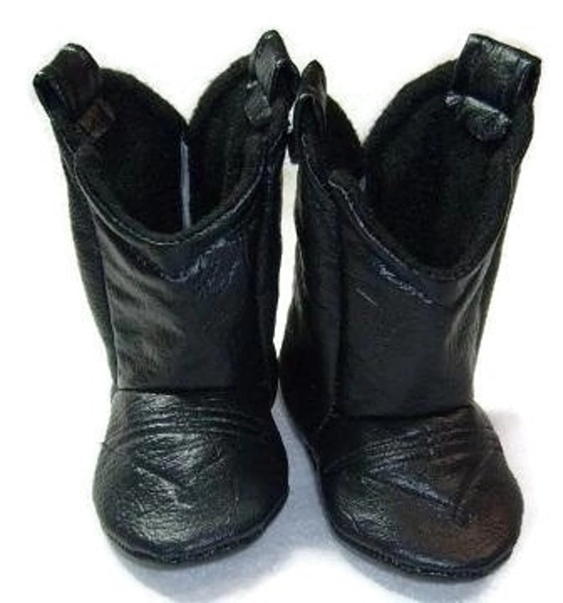 1746a6f2085bb Black Leather Baby Cowboy Boots | Alligator Texture | Preemie size up to 24  Months