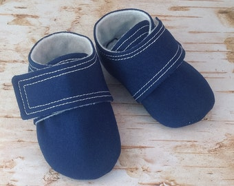 Navy Blue Baby Shoes | Newborn size up to 4T
