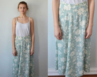 Vintage Floral Skirt, Vintage Skirt, Laura Ashley, 1980s Skirt, Summer Skirt, Casual Skirt, Vintage Long Skirt, Skirts