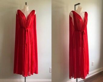 Vintage Red Nightgown 699f7e6e2