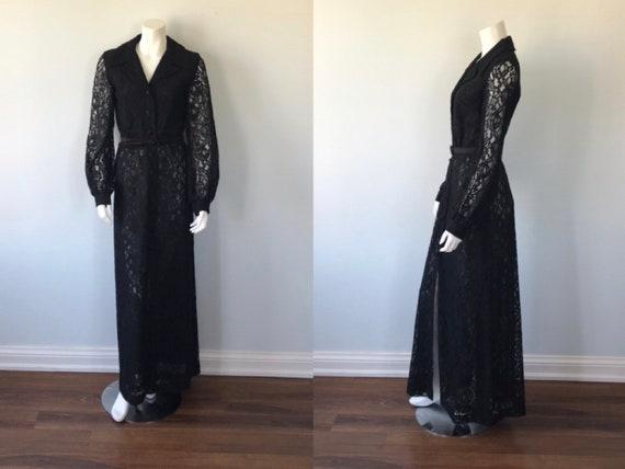 Vintage Daymor Couture Black Lace Gown, Black Lace