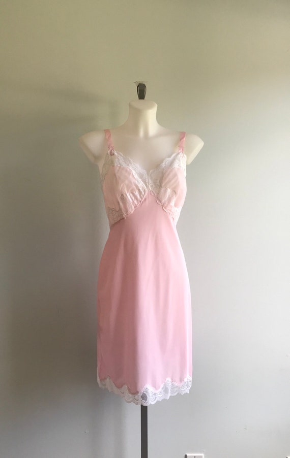 Vintage Pink Slip, Vintage Pink Full Slip, 1960s … - image 2