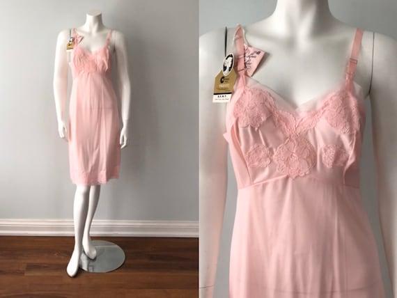 Vintage Pink Full Slip, Love Lines by Hay Lure, 19