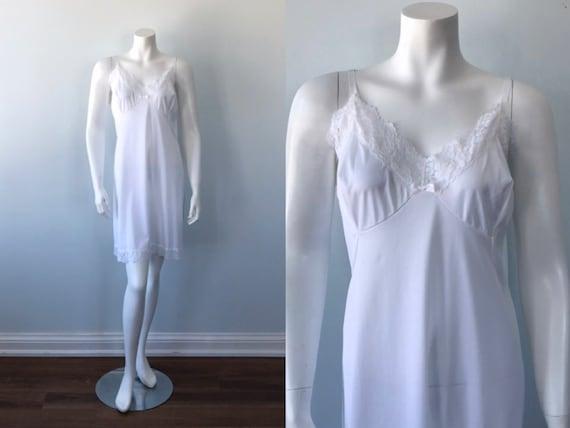 Vintage White Full Slip, Osti Satin Star   Full Sl