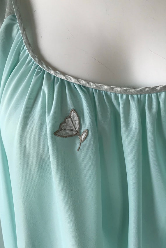 Vintage Lucie Ann Nightgown, Mint Green Nightgown… - image 4
