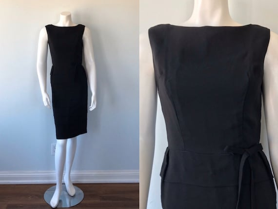 Vintage Black Dress, 1950's Dress, 1950s Black Dre