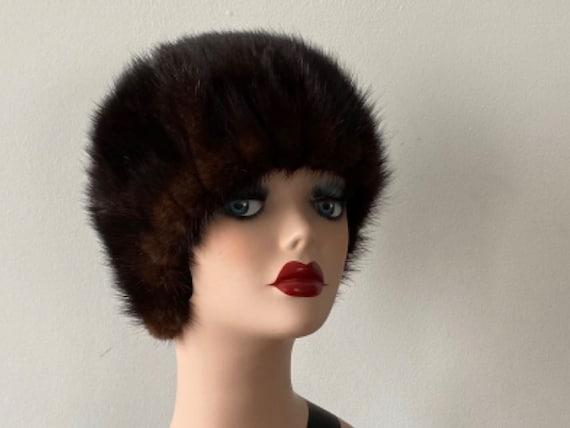 Vintage Mink Hat, 1950s Mink Hat, Marshall Fields