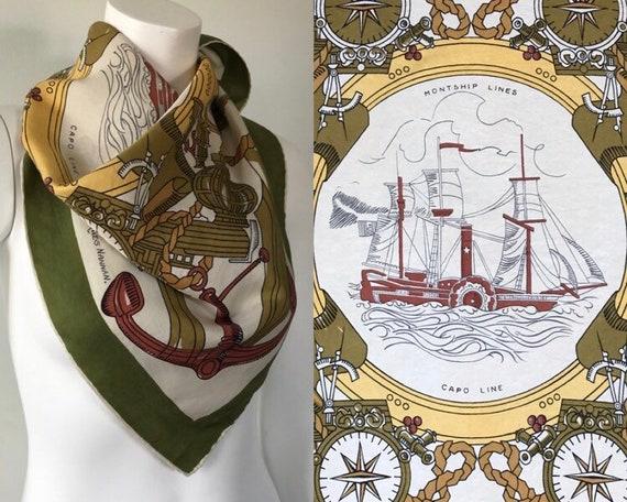 Rare Vintage Silk Scarf, Jaques Nannan, 1950s - 19