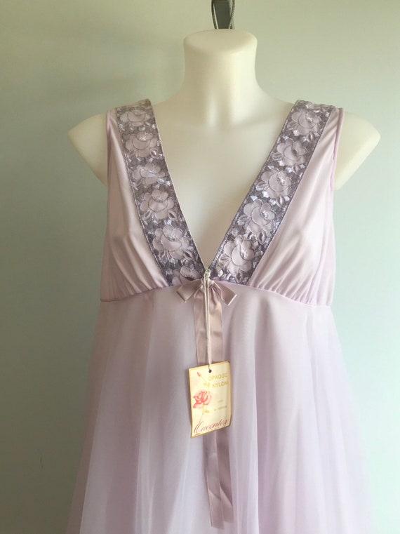 Vintage Chiffon Nightgown, Vintage Nightgowns, Qu… - image 3