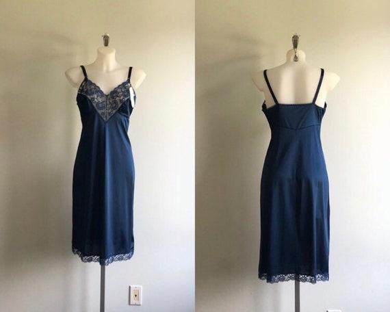 Vintage Blue Full Slip, Vintage Slip, Vanity Fair,