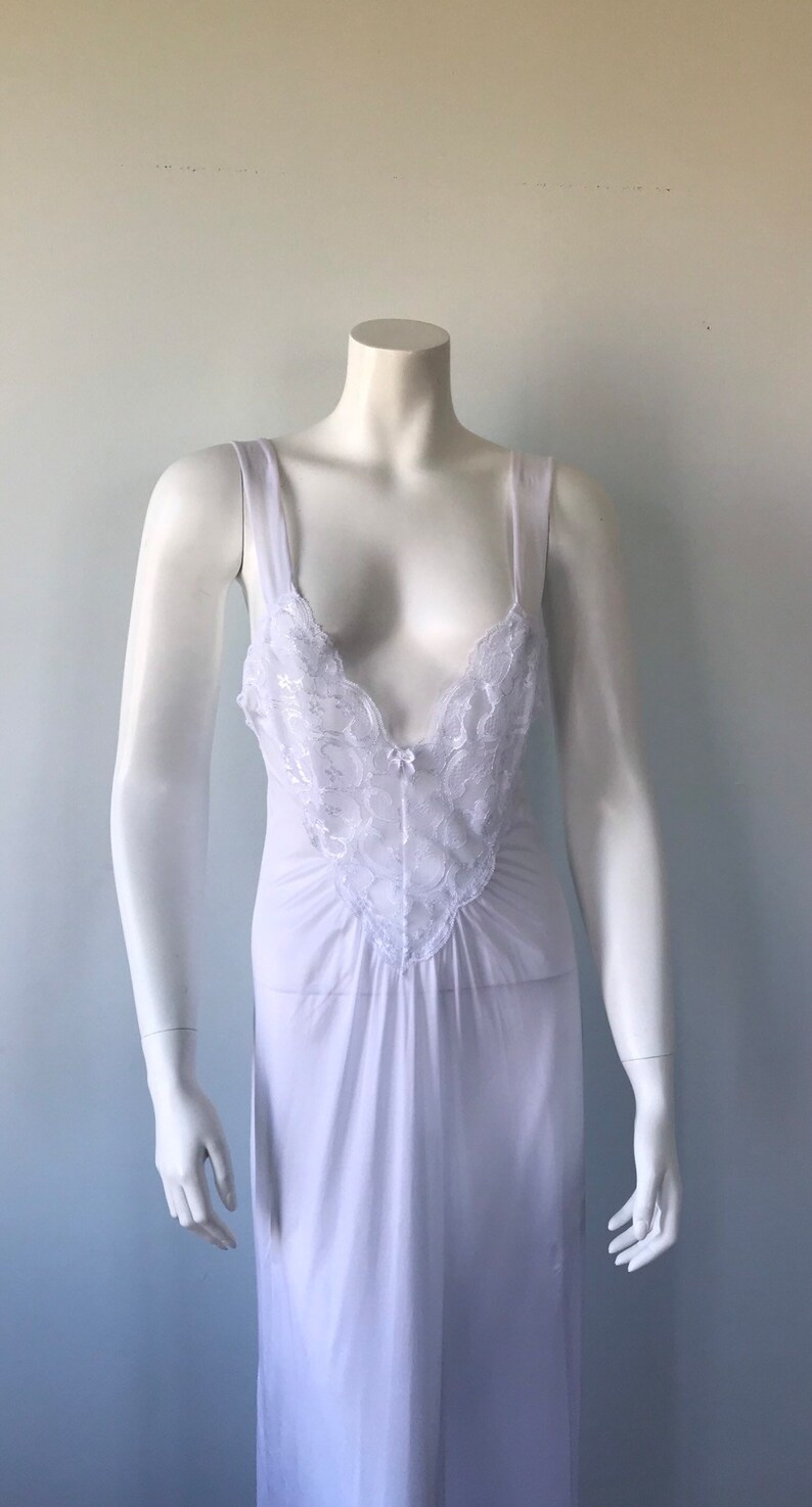Vintage Nightgown Chiffon Negligee Set Vintage White Peignoir Set Vintage Lingerie White Peignoir Set Vintage Peignoir