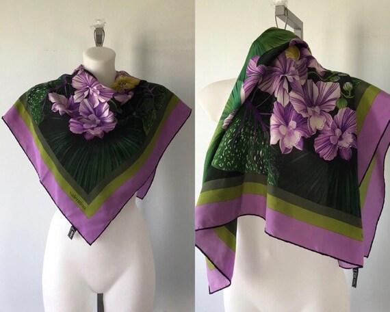 Vintage Valentino Silk Scarf, Silk Scarf, Valentin