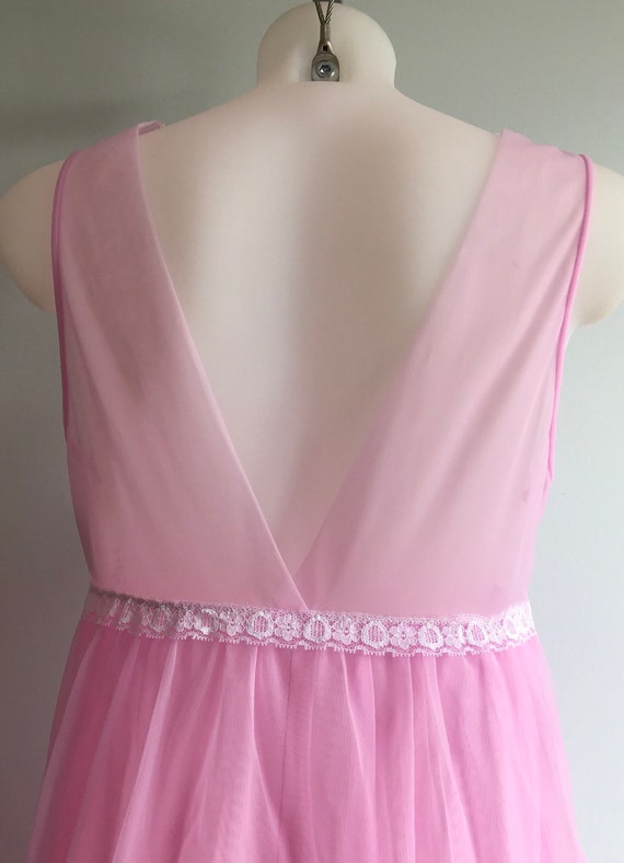 Vintage Chiffon Nightgown, 1960s Nightgown, Orchi… - image 7