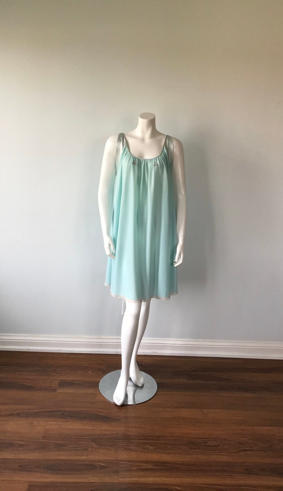 Vintage Lucie Ann Nightgown, Mint Green Nightgown… - image 2