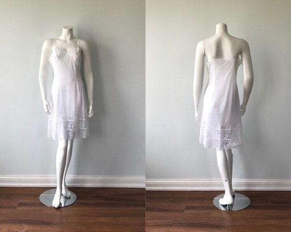 1960s White Full Slip, Vintage White Slip, Vintage
