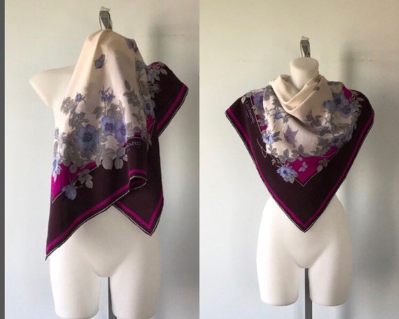 Vintage Leonard Paris Silk Scarf, Vintage Silk Sca