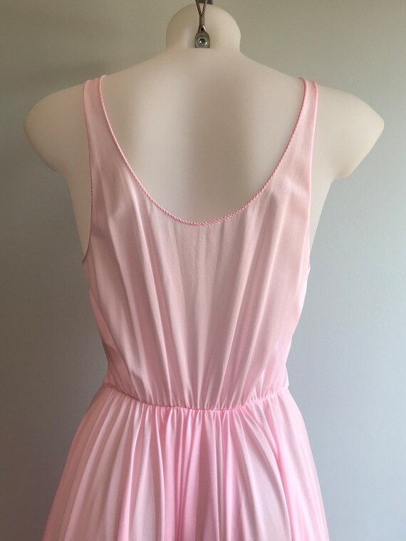 Vintage Pink Nightgown, 1970s Nightgown, Lov Lee,… - image 7