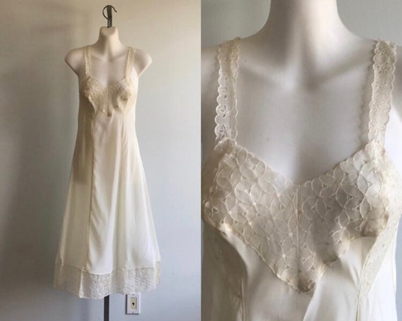 Vintage Ivory Full Slip, Lov Lines by Gay Lure, 19