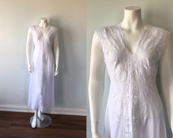 Vintage Bridal White Nightgown, Vintage Nightgown,
