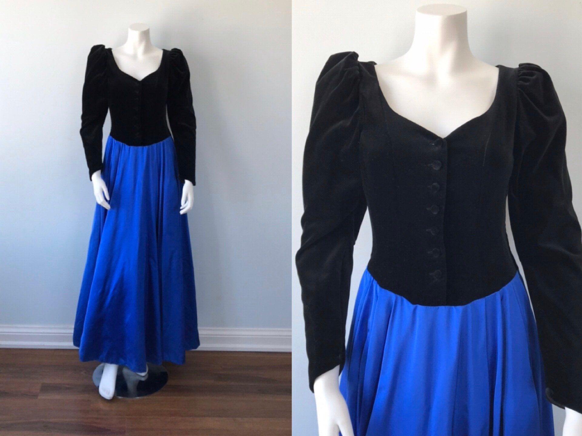 80s Dresses | Casual to Party Dresses Laura Ashley Evening Gown, 1980S Elegant, Wedding, Ashely, Dress, Formal Gown $27.26 AT vintagedancer.com